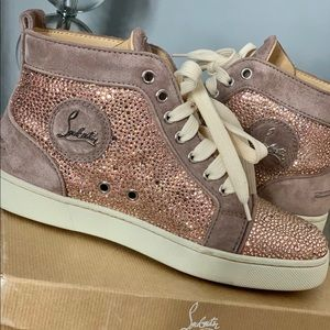 Christian Louboutin Louis Strass High Top Sneakers